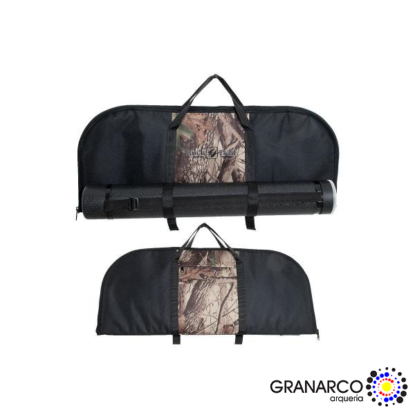 FUNDA ARCO RECURVADO DESMONTABLE HUNTER NEGRO-CAMO BUCK TRAIL
