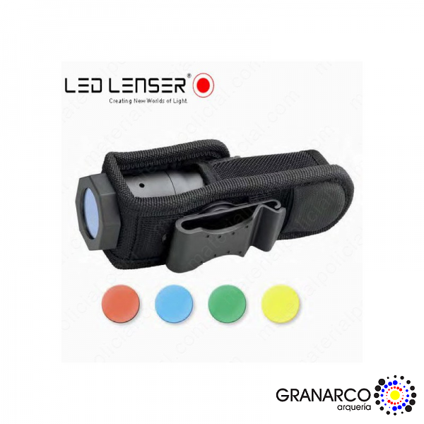 FUNDA CON  FILTROS INTERCAMBIABLES LED LENSER