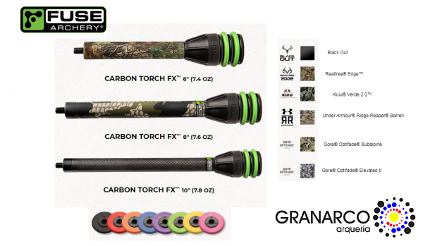 ESTABILIZADOR CAZA 3D CARBON TORCH FUSE